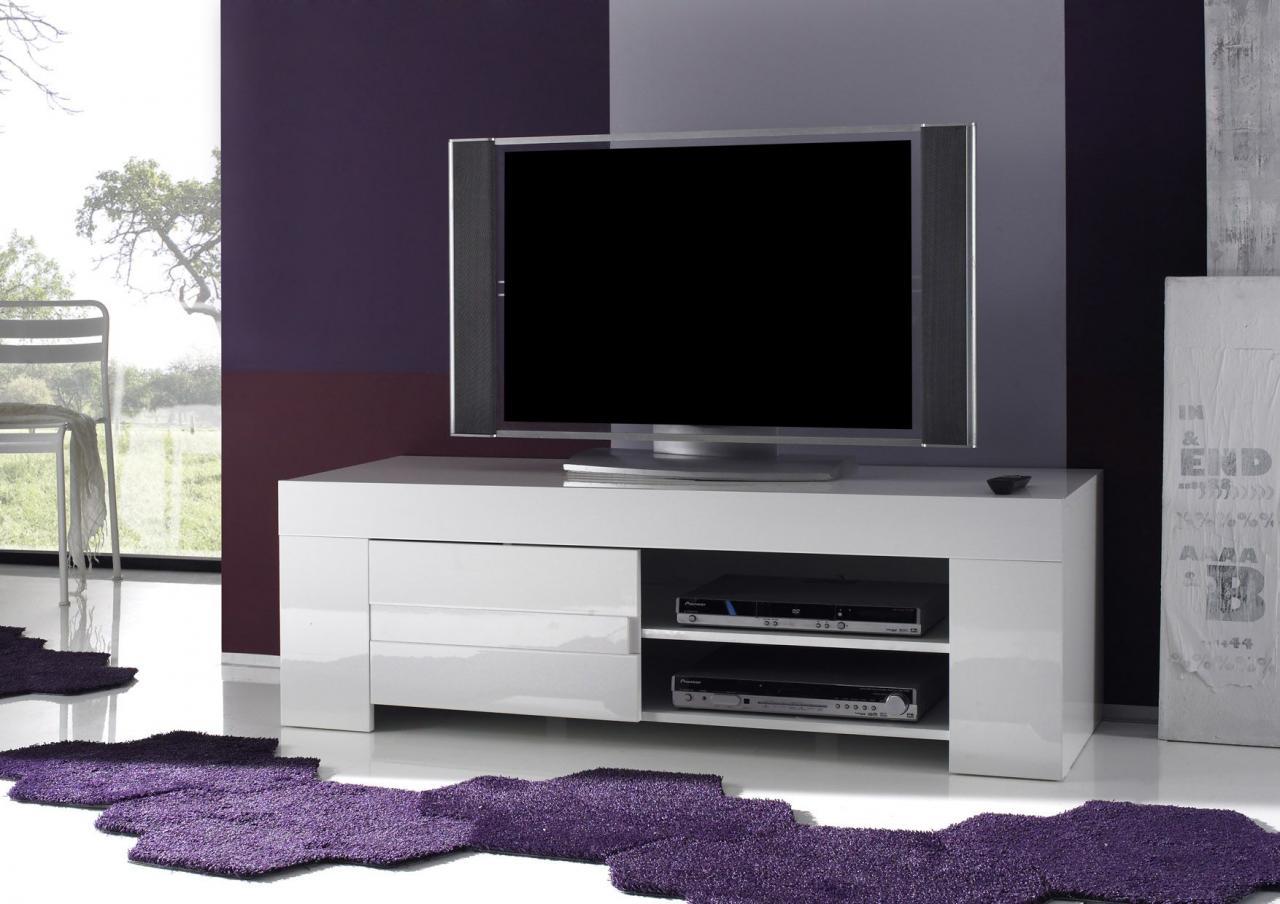 Meuble De Tv Blanc Laqu Maison Et Mobilier D Int Rieur # Meuble De Tv Blanc Laque