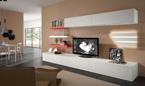 meuble tv long blanc laqu maison et mobilier d 39 int rieur. Black Bedroom Furniture Sets. Home Design Ideas