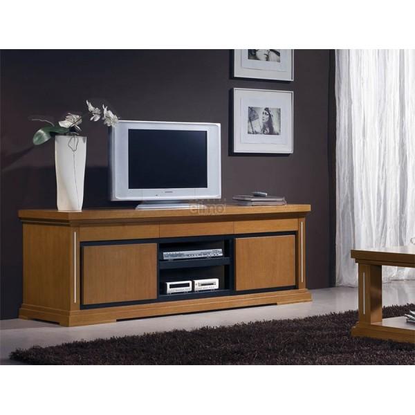 Meuble tv merisier maison et mobilier d 39 int rieur for Meuble tv xxl style louis philippe en pin