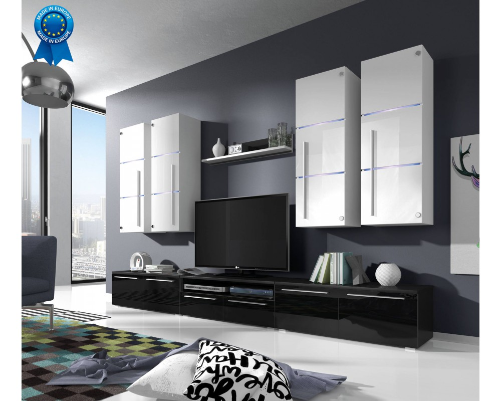 Meuble Tv Lumineux Maison Et Mobilier D Int Rieur # Meuble Tv Avec Etagere