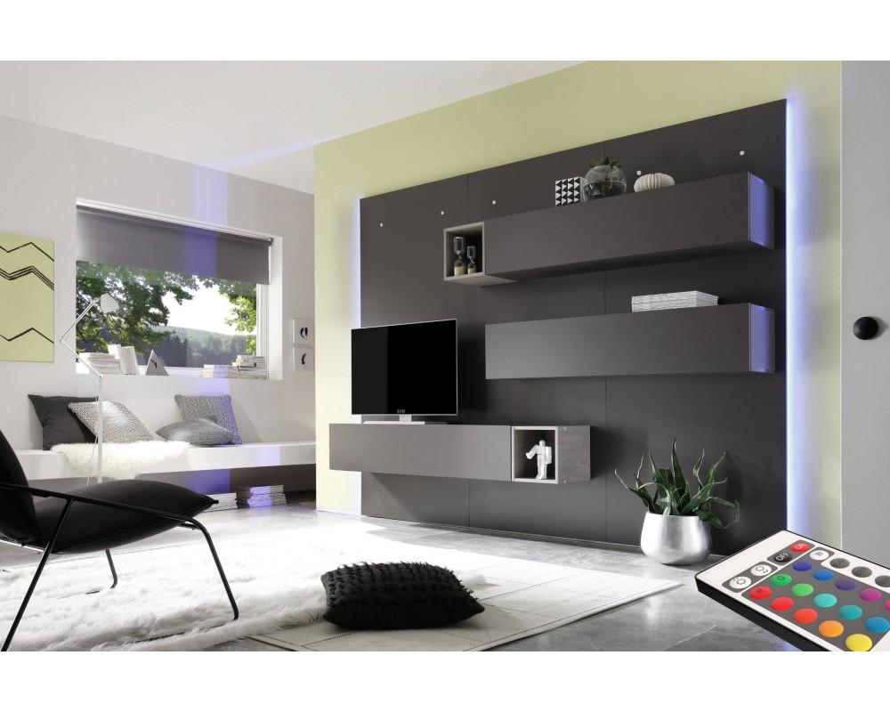 Meuble Tv Mural Design Maison Et Mobilier D Int Rieur # Meuble Tv Panneau Mural