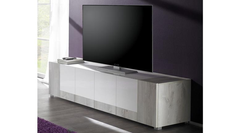 meuble tv bois et laqu blanc - Meuble Bois Et Blanc Laque