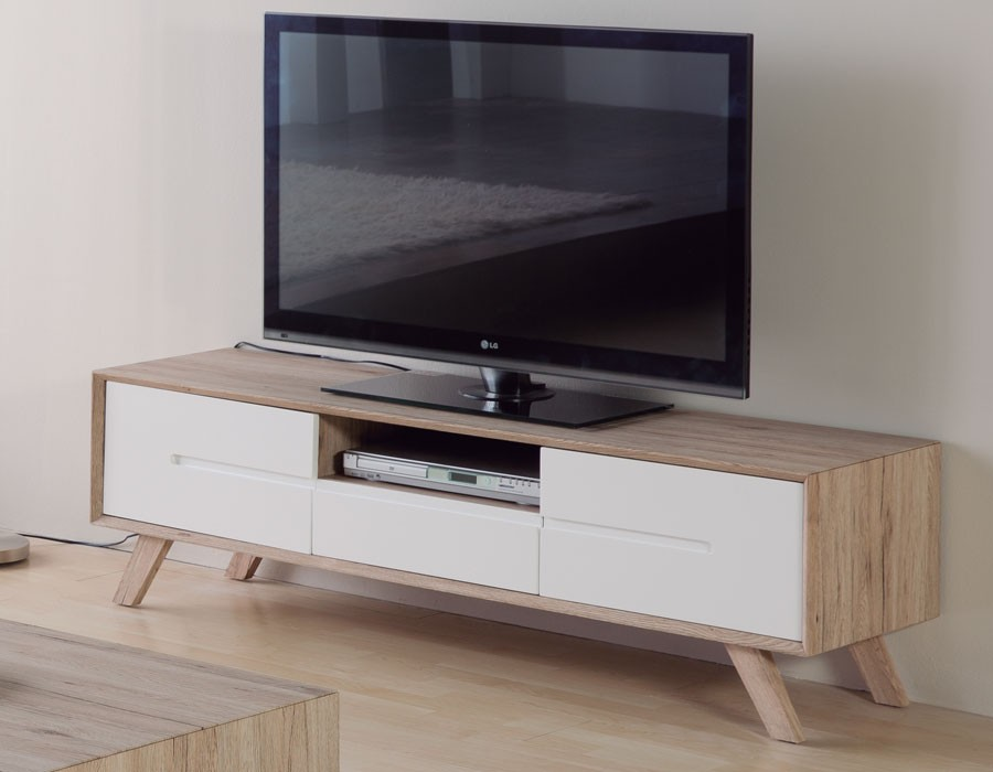 Meuble tv scandinave maison et mobilier d 39 int rieur for Meuble tv long blanc