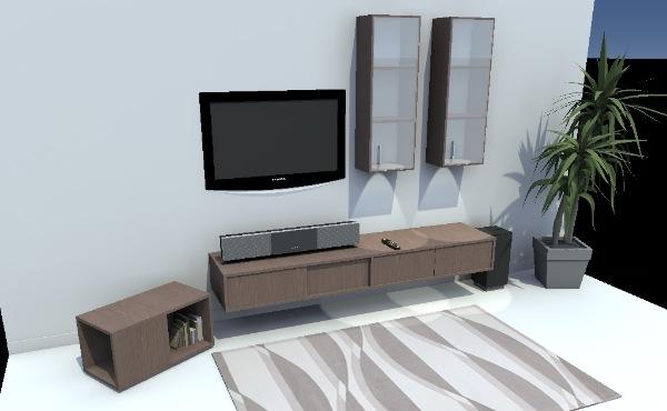 Meuble tv fix au mur maison et mobilier d 39 int rieur for Meuble tv jysk