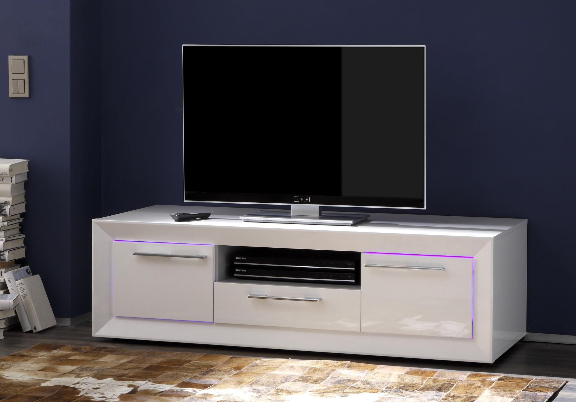 Meuble Tv Hifi Maison Et Mobilier D Int Rieur # Meuble Tv Blanc Laque Pas Cher