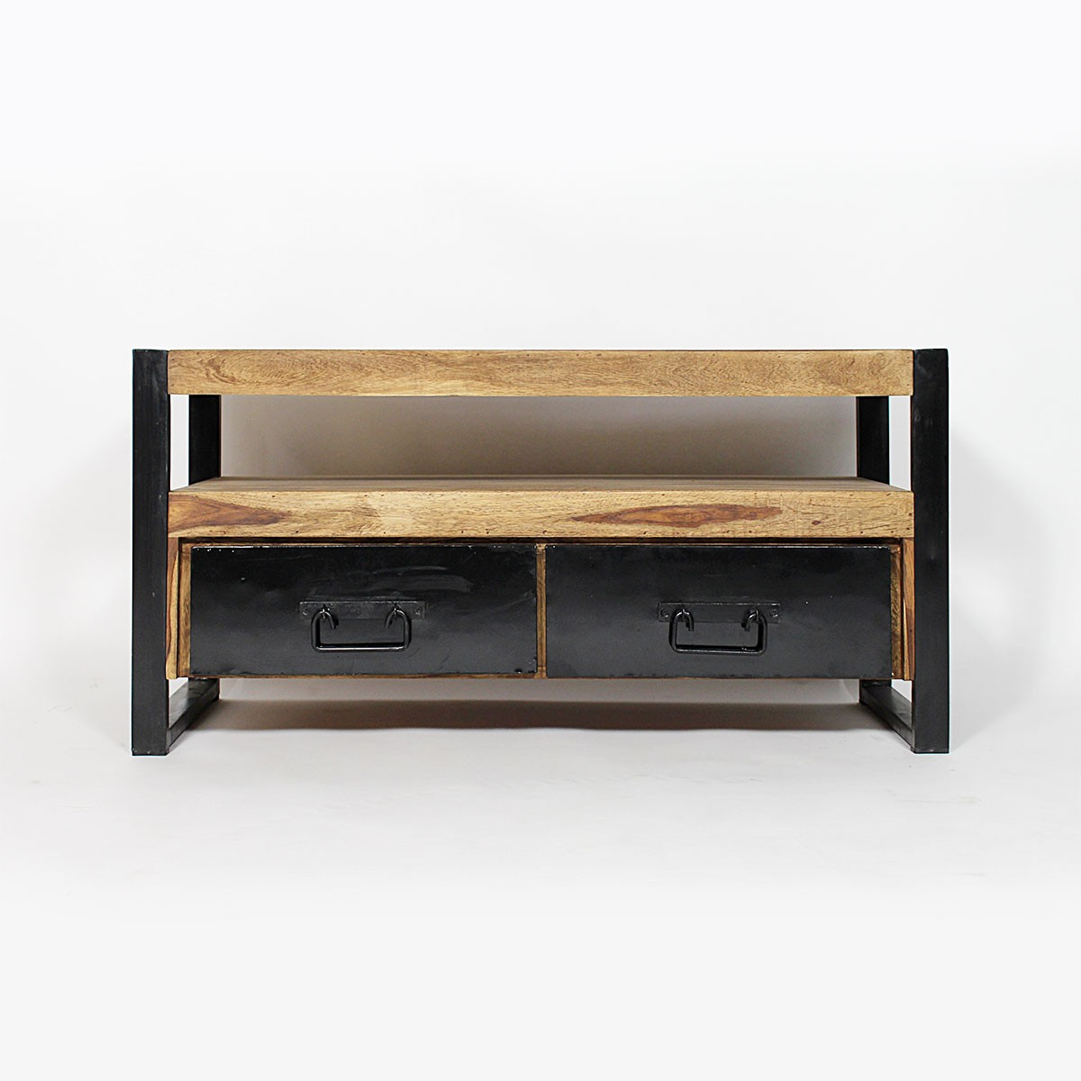 Meuble Tv 90 Cm Bois Maison Et Mobilier D Int Rieur # Meuble Tv Pied Metal