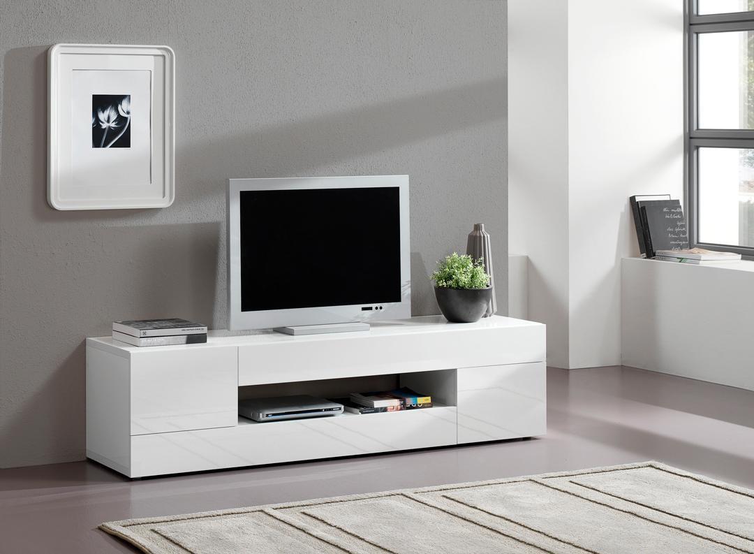 Meuble Tv Blanc Et Bois Cdiscount Maison Et Mobilier D Int Rieur # Trouver Meuble Tv Pas Cher