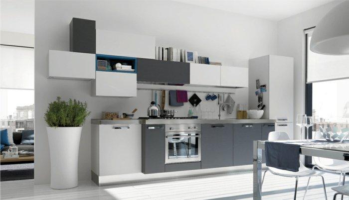 Meuble De Cuisine Gris Et Blanc - Maison Et Mobilier D'Intérieur
