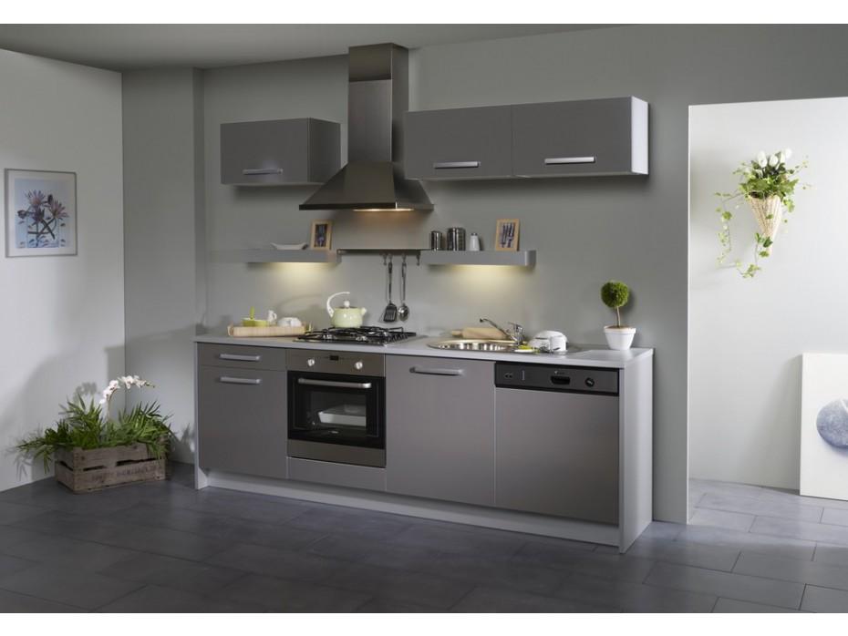 Meuble de cuisine gris brillant - Maison et mobilier d\'intérieur