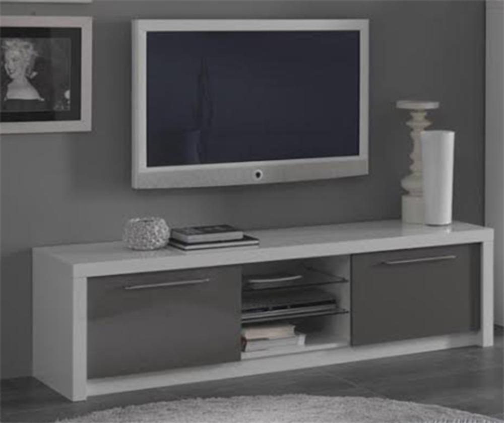 Meuble Tv Haut Gris Maison Et Mobilier D Int Rieur # Meuble Tv Haut Blanc Laque