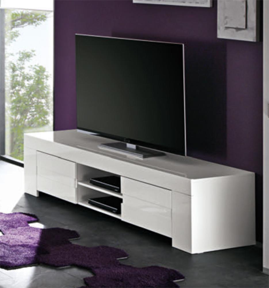 Meuble Tv Laqu Maison Et Mobilier D Int Rieur # Meuble Tv Haut Led Laque Blanc