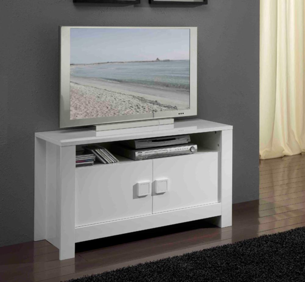 Meuble Tv Troit Maison Et Mobilier D Int Rieur # Meuble De Tv Blanc Laque