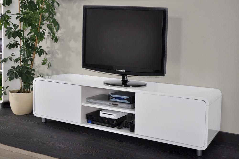 meuble bas tv blanc - Meuble Tv Laque Blanc Hudson