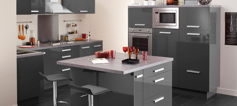 Element de cuisine gris maison et mobilier d 39 int rieur for Element cuisine gris