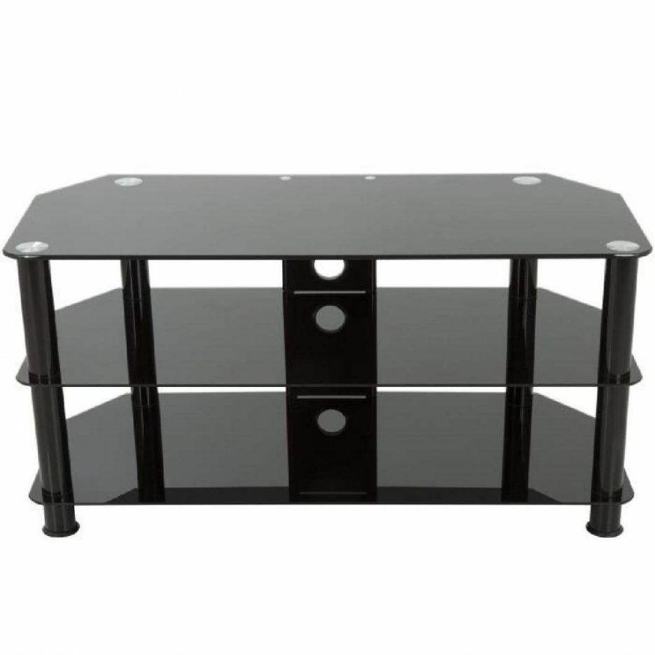 Meuble tv noir en verre maison et mobilier d 39 int rieur for Meuble tv en verre noir