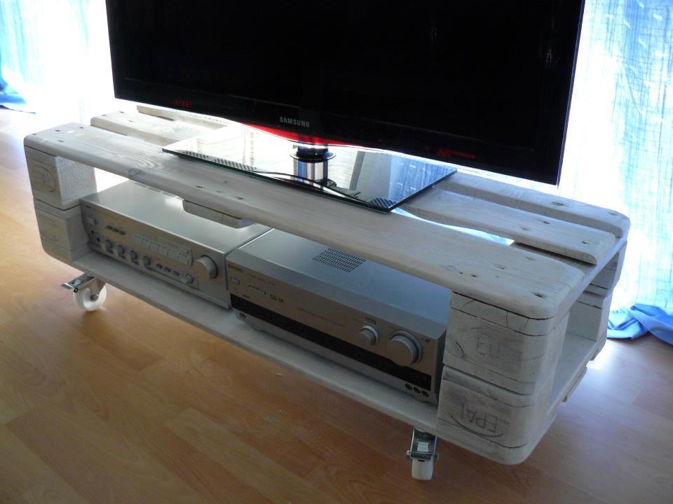 fabriquer un meuble tv avec des palettes maison et mobilier d 39 int rieur. Black Bedroom Furniture Sets. Home Design Ideas