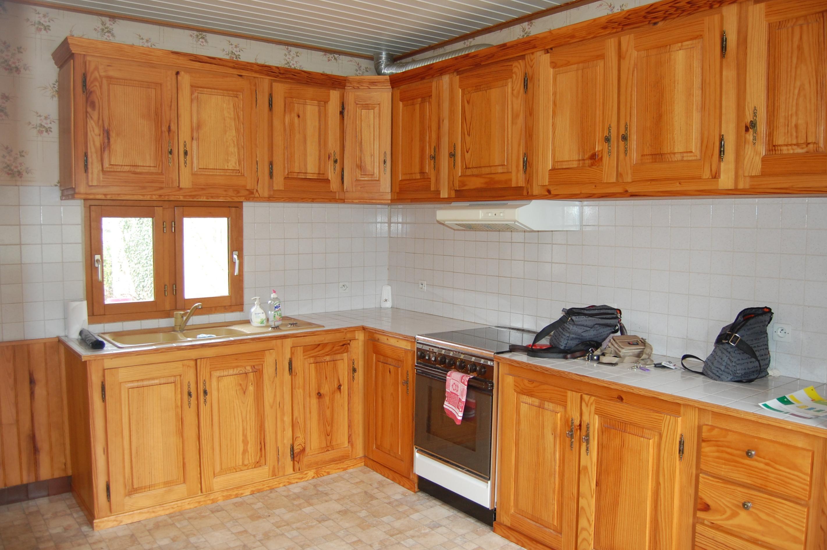 Element de cuisine bois