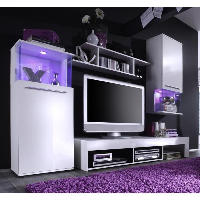 cdiscount meuble tv mural blanc laque maison et mobilier. Black Bedroom Furniture Sets. Home Design Ideas