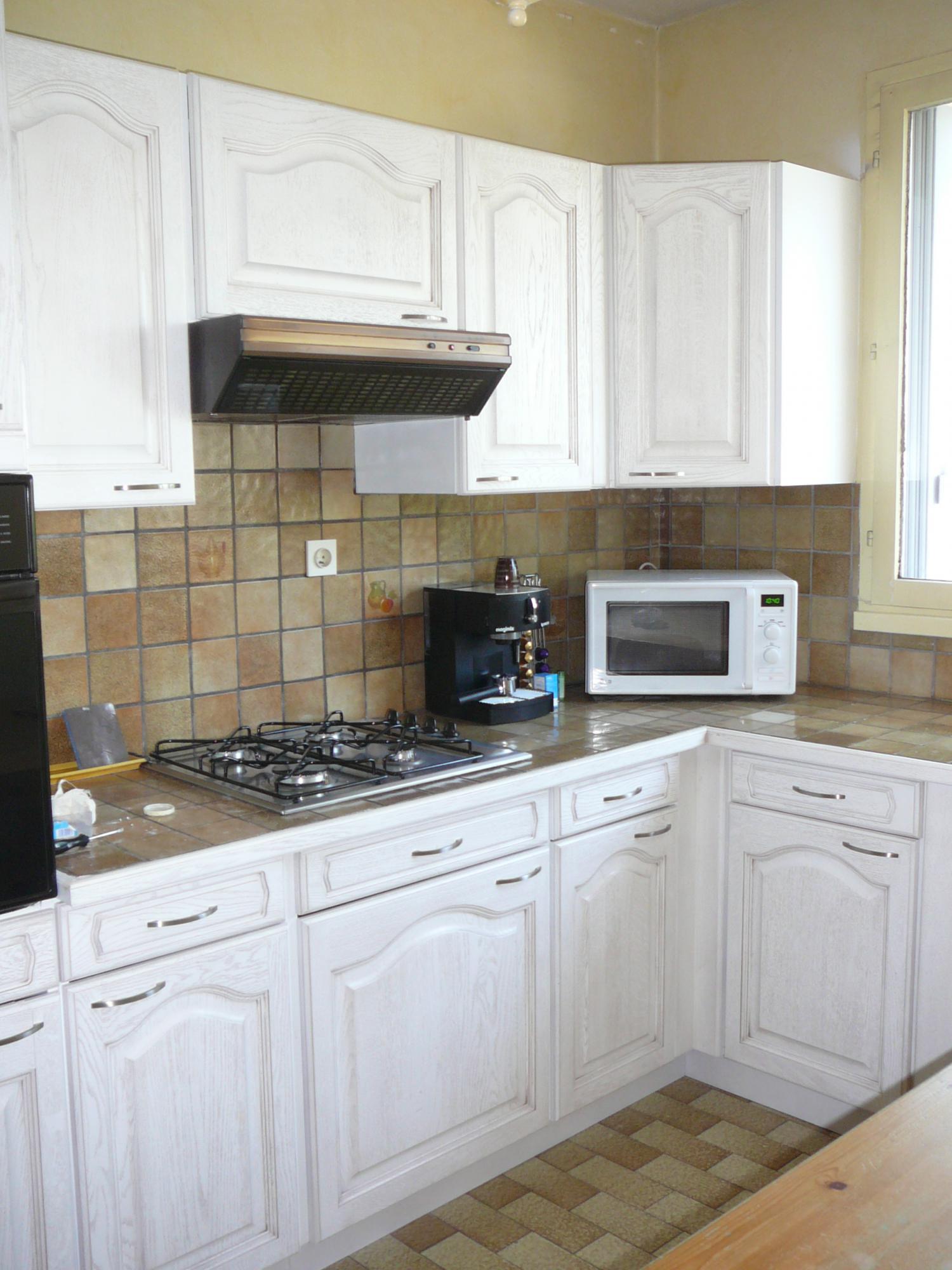 Meuble de cuisine simple maison et mobilier d 39 int rieur - Repeindre des elements de cuisine ...