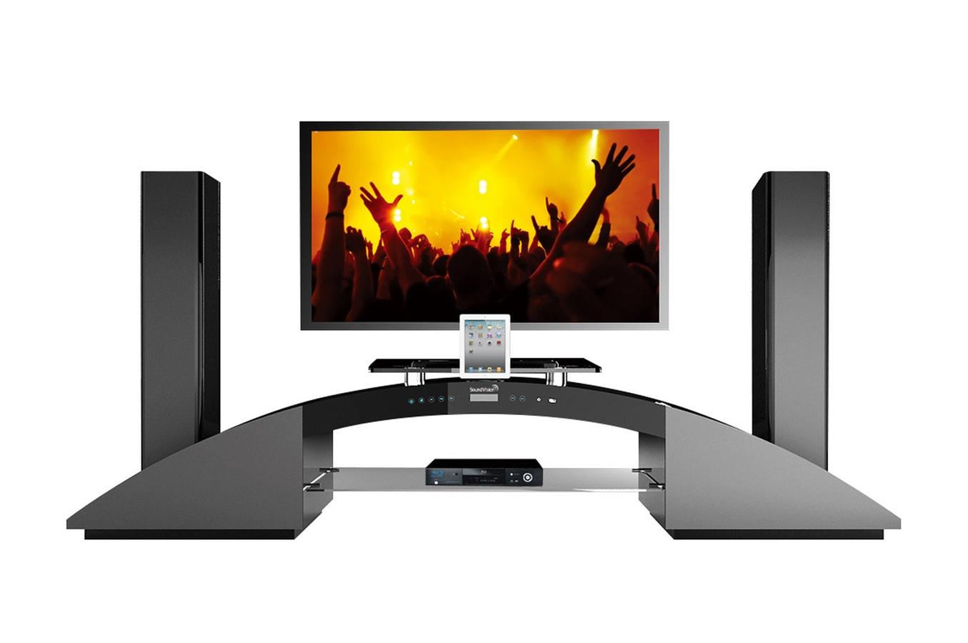 Meuble Tv D Vision Maison Et Mobilier D Int Rieur # Meuble Tv Home Cinema Leclerc