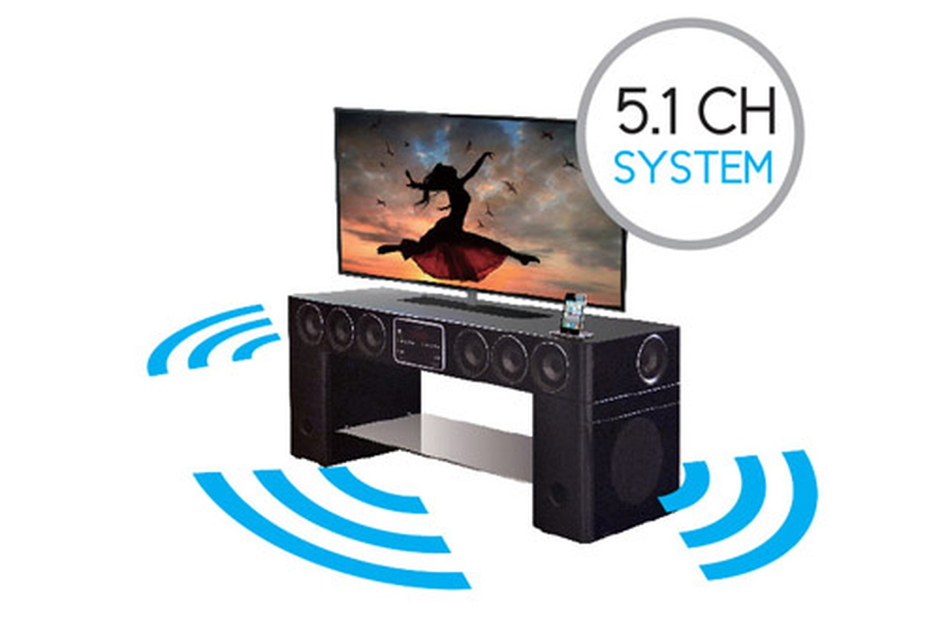 Meuble Tv 5.1 Home Cinema