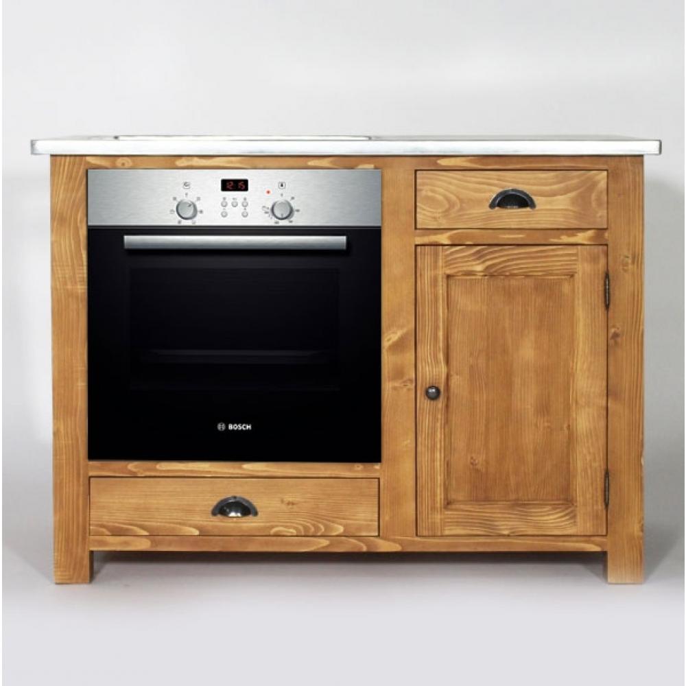 Meuble de cuisine bois et zinc maison et mobilier d for Meuble haut cuisine bois