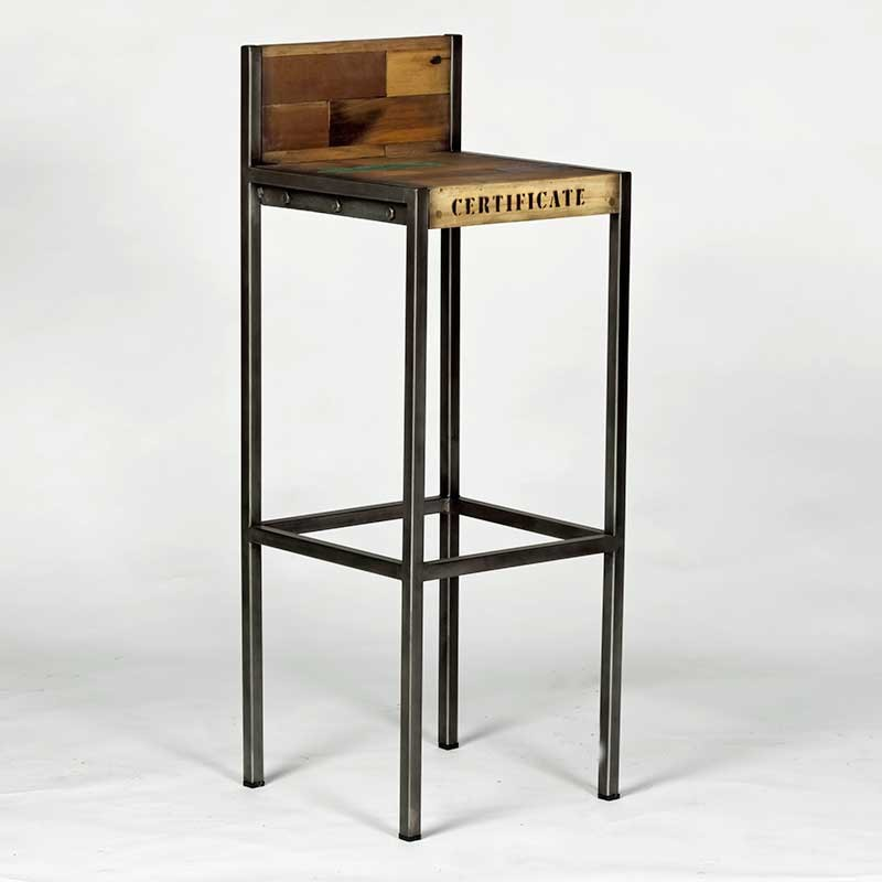 tabouret de bar industriel maison et mobilier d 39 int rieur. Black Bedroom Furniture Sets. Home Design Ideas