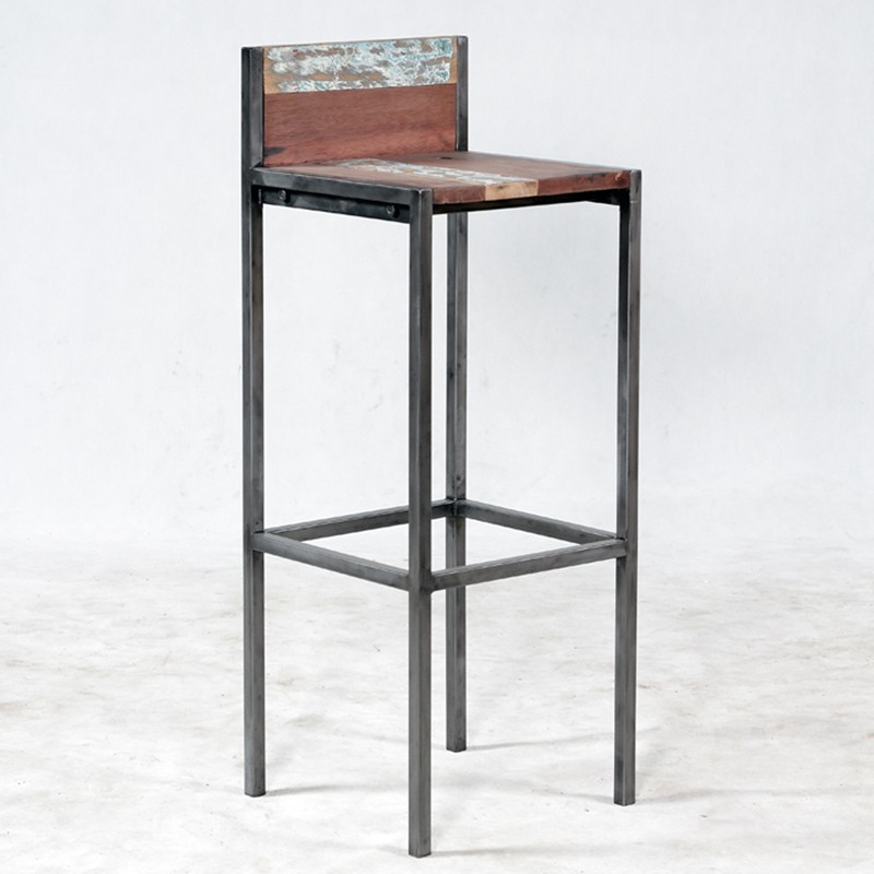 tabouret de bar fer et bois - maison et mobilier d'intérieur