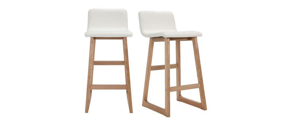 tabouret de bar 63 cm blanc maison et mobilier d 39 int rieur. Black Bedroom Furniture Sets. Home Design Ideas