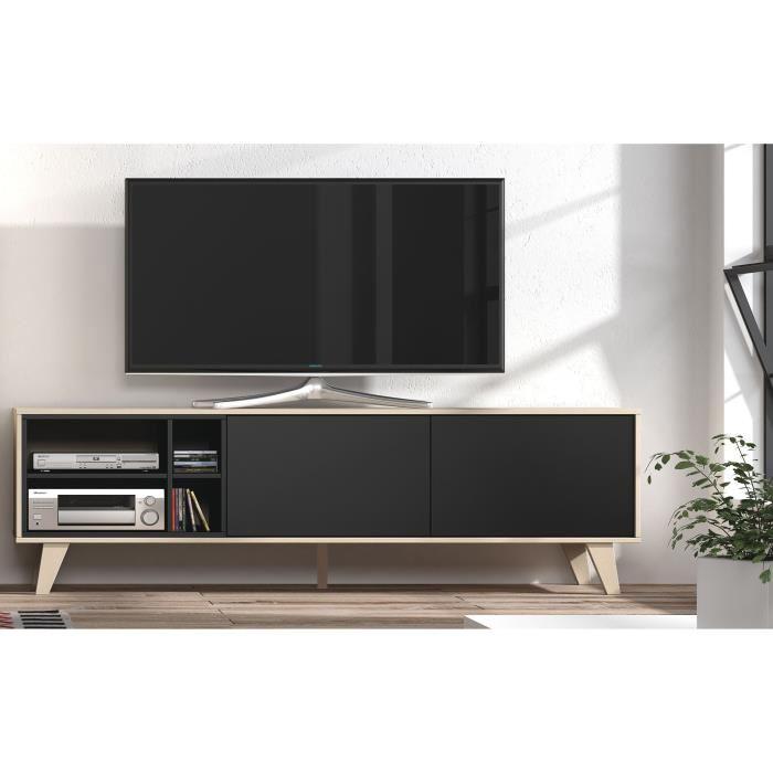 Meuble tv gris anthracite maison et mobilier d 39 int rieur for Meuble tele 1m