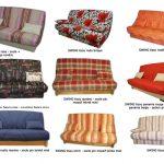 Canapé clic clac socle bois
