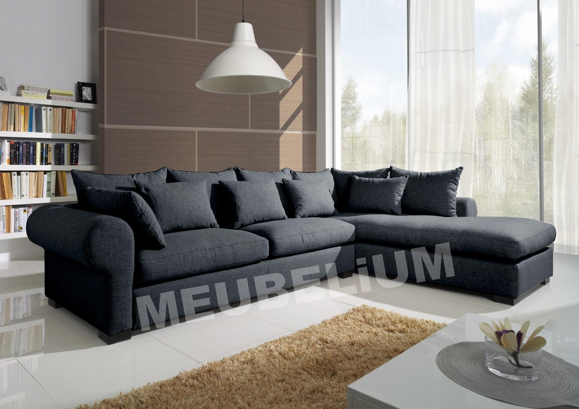 canape dangle convertible cuir noir. Black Bedroom Furniture Sets. Home Design Ideas
