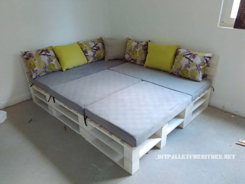 Canap lit palette maison et mobilier d 39 int rieur - Canape palette interieur ...