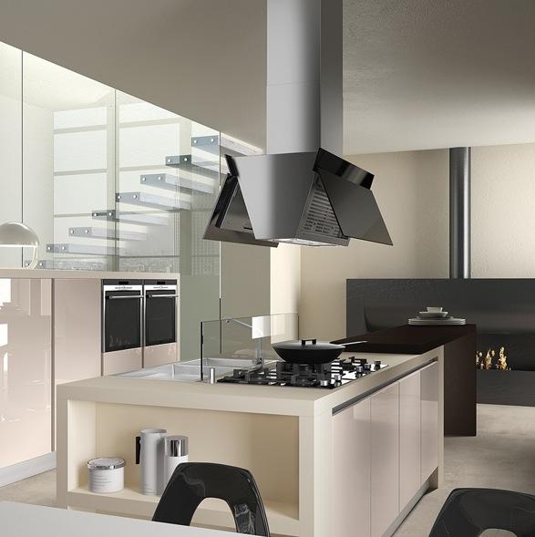 hotte pour ilot central cuisine maison et mobilier d. Black Bedroom Furniture Sets. Home Design Ideas