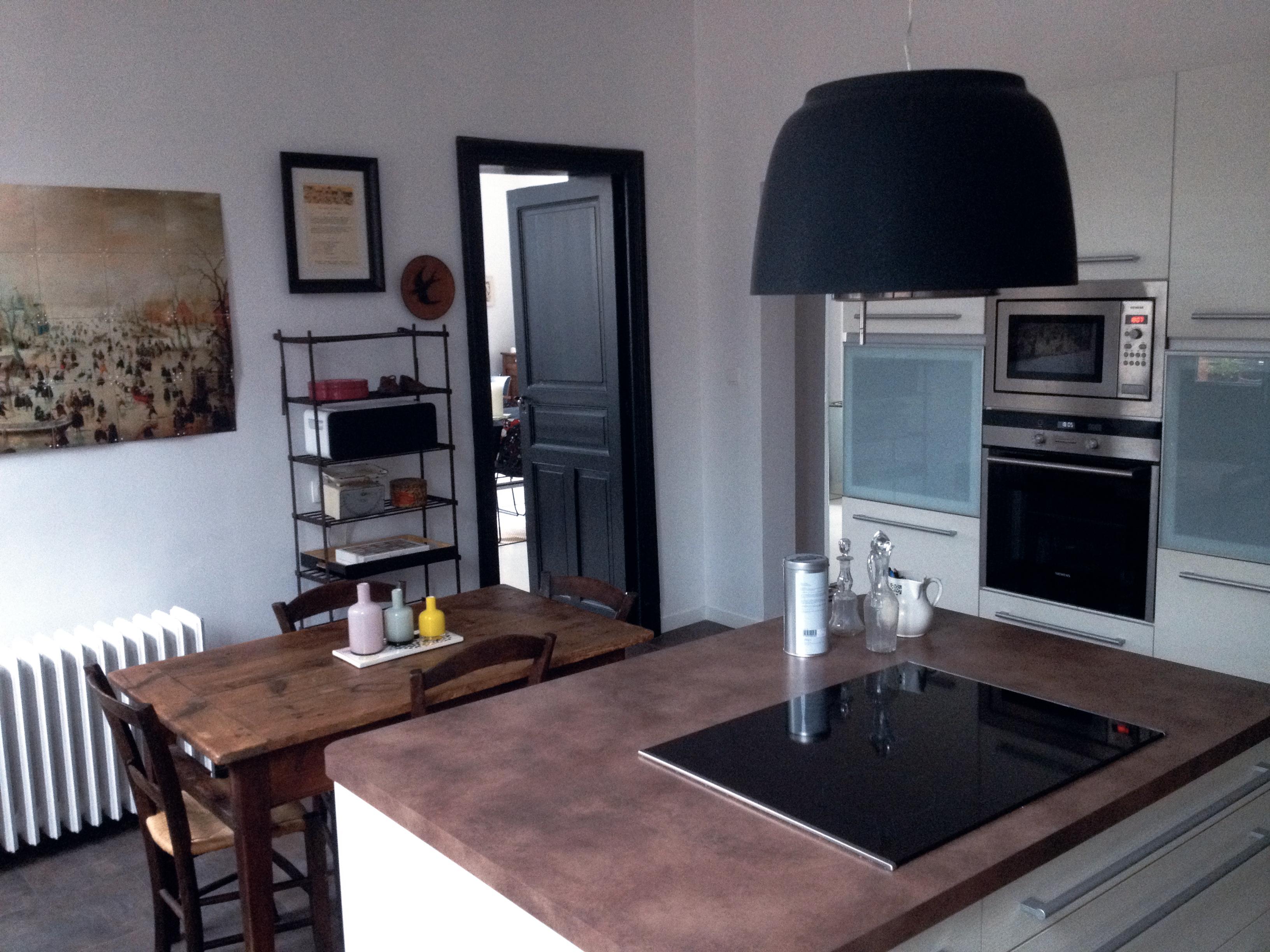 Ikea Amenagement Armoire Cuisine ~ Hotte Ilot Central Noire Maison Et Mobilier D Int Rieur