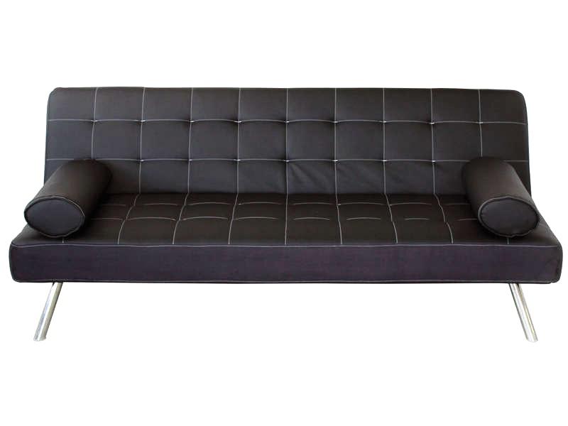 banquette lit clic clac joy coloris noir maison et. Black Bedroom Furniture Sets. Home Design Ideas