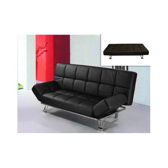 canap clic clac en simili espoo noir maison et mobilier d 39 int rieur. Black Bedroom Furniture Sets. Home Design Ideas