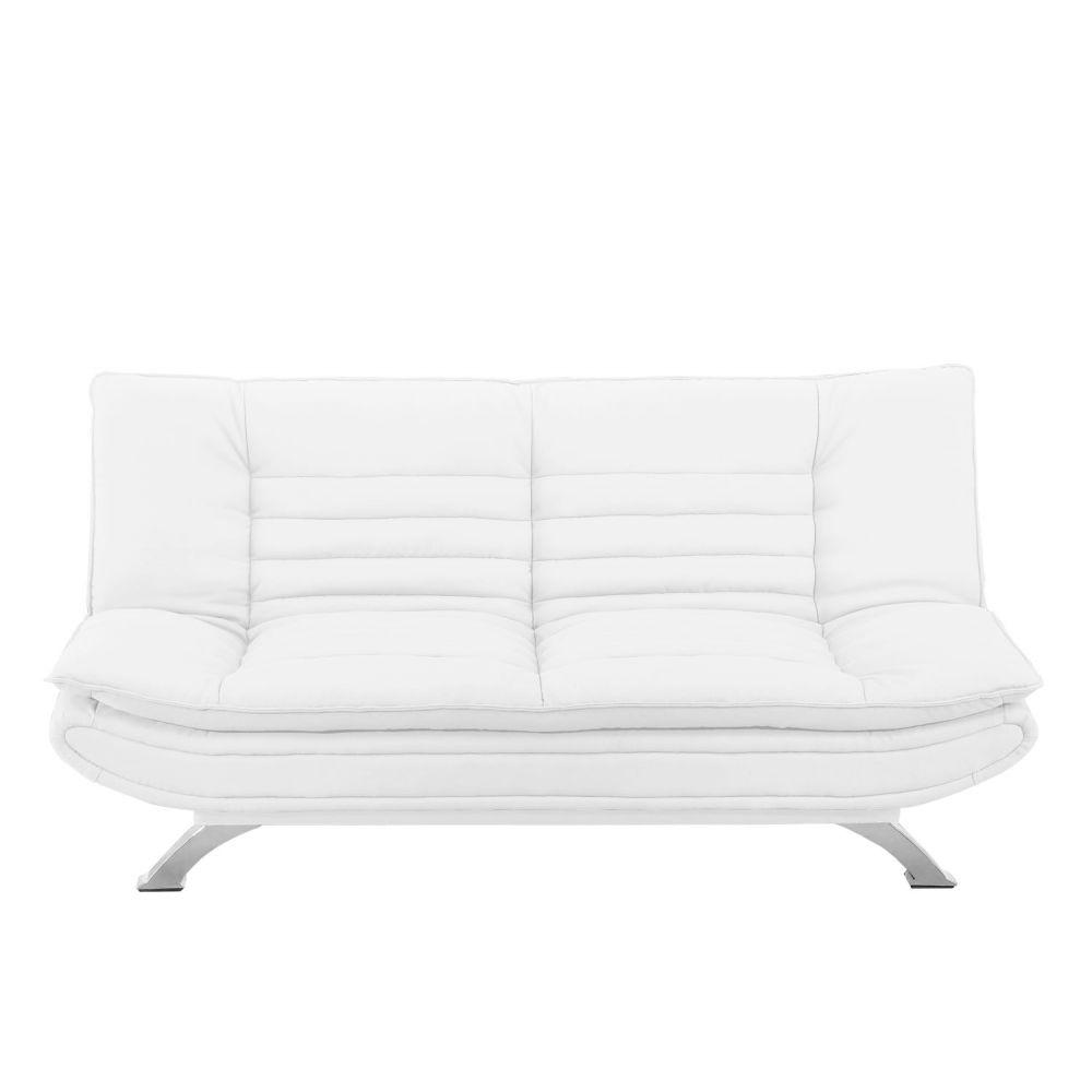 banquette clic clac simili cuir blanc maison et mobilier d 39 int rieur. Black Bedroom Furniture Sets. Home Design Ideas