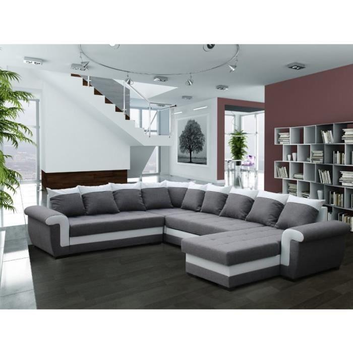 canape 2 angles convertible lit et reversible maison et. Black Bedroom Furniture Sets. Home Design Ideas
