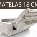 Canapé lit matelas 18 cm