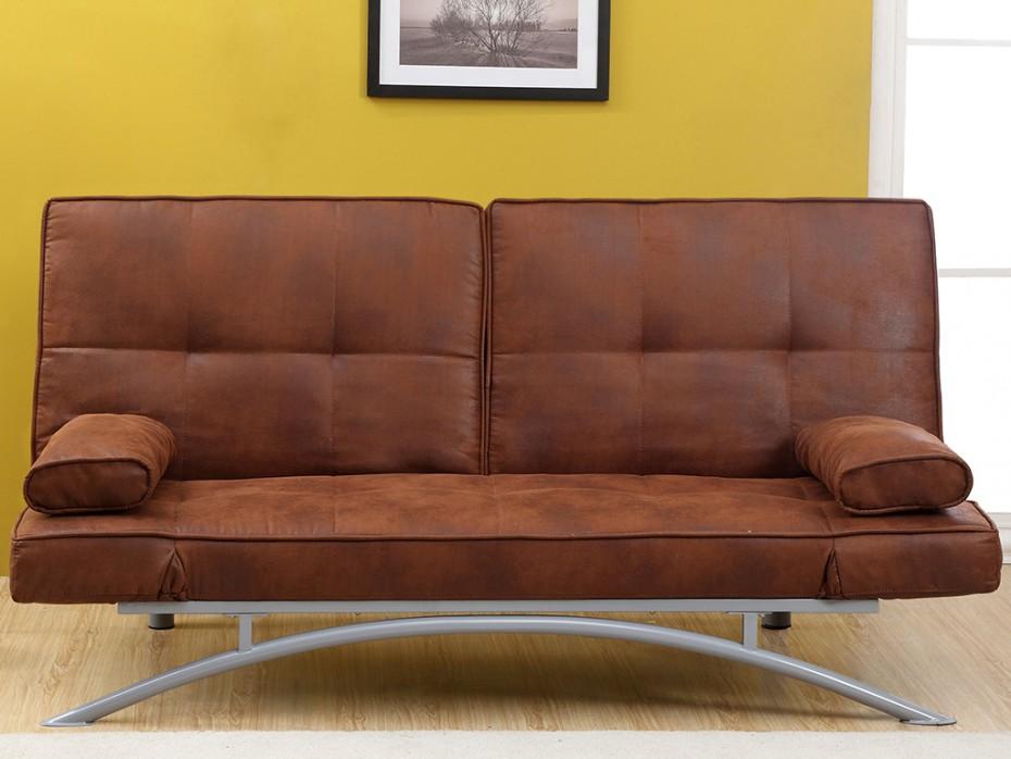 canap clic clac en microfibre atlanta ii maison et mobilier d 39 int rieur. Black Bedroom Furniture Sets. Home Design Ideas