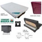 Banquette clic-clac matelas bultex 15cm + coffre de rangement ballina