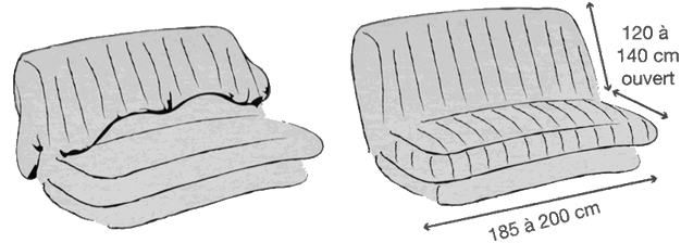 canape clic clac en 120 maison et mobilier d 39 int rieur. Black Bedroom Furniture Sets. Home Design Ideas