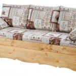Canapé lit bois