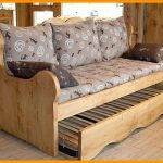 Canapé lit style montagne