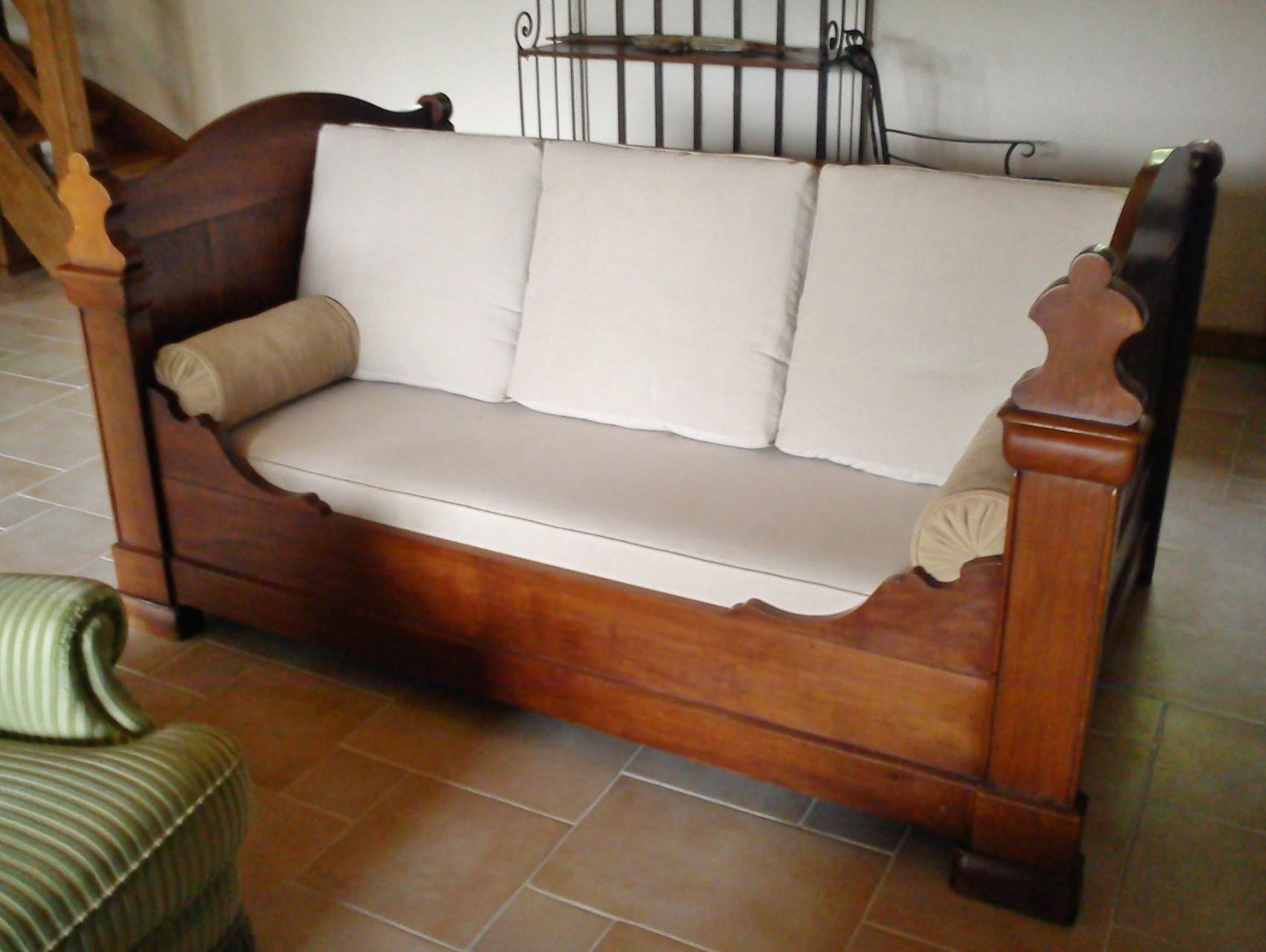 Canap lit ancien maison et mobilier d 39 int rieur - Lit a rouleau transforme en canape ...