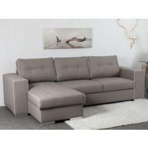 Canapé d'angle réversible simili cuir