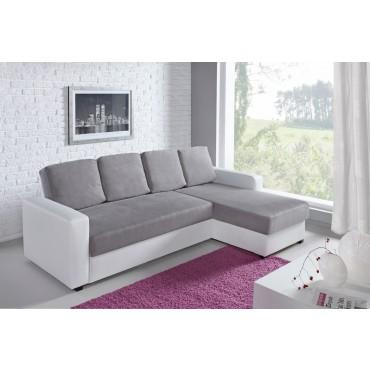 Canapé blanc et gris pas cher