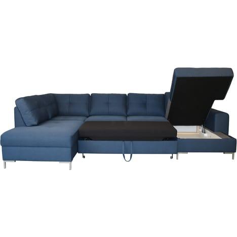 Canapé d'angle convertible tissu pas cher