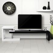 Meuble tv blanc noir laqué